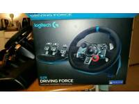 Logitech G29 PC PS3 PS4 Steering Wheel + Pedals