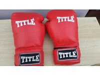 Title blue and red boxing gloves