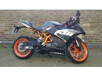 2016 KTM RC 125 cc with G.P.R. Ghost exhaust system, Datatag, Hawk Alarm & Immobilizer