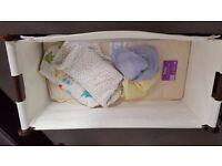 Snuzpod Crib Espresso, Mattress, Mattress Protector, 4 Sheets, 2 Sleeping Bags
