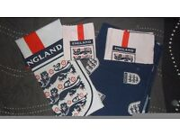 England Single Duvet Sets & Curtains - Fundraising for 2 sons trip to Gambia with Hampshire Scouts