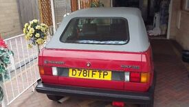 VW Golf Mark 1 convertible -Red - Excellent condition (collectors car)