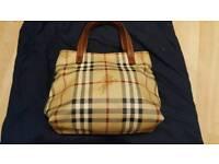 Genuine Burberry handbag and Burberry dust bag