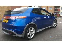 Honda Civic Type S 3dr 2007 Blue with MOT 2017 1.8L £2000