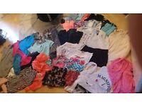 Girl 47 piece clothes bundle age 10-11