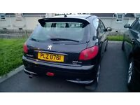 Peugeot 206, Black, 2005, 130000, Full Years M.O.T, Good Condition, 2.0L Diesel