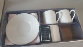 funky esspresso cups and 3 esspreso cups set