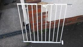 Adjustable permanent fix stair gate