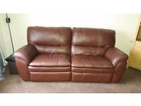 Leather sofa 2 x 2 seaters