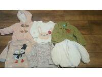 6 item Baby Girl Winter Bundle Aged 3-6 months