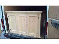 wall cabinet 1050 or 1350 - handmade - bespoke - solid wood - pine - oak - kitchen unit - tulip wood