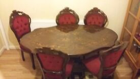 Classic Victorian dining table