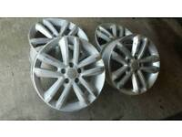 "Vauxhall 17"" alloy wheel rims 5 stud"