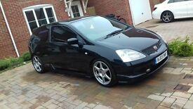 * Honda civic type r 80,000 miles 12 month's MOT *
