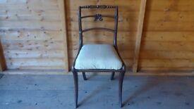 Regency mahogany dining chair