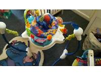 Jumperoo and bouncer