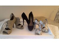 Size 6 new with tags or worn once heels Aldo,red herring and dorothy perkins£8 each