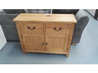 Brand New 2 Door 2 Drawer Oak Sideboard Is Now Only £149. Was £249. W:95 H:75 D:33cm. Already Built