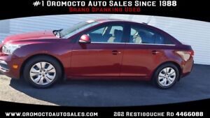 2015 Chevrolet Cruze SUNROOF, 14000 KM ONE OWNER