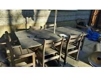 Garden table an chairs