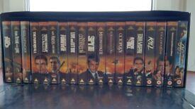 JAMES BOND COLLECTORS BOX SET FIRST 19 FILMS VHS