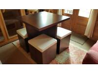 Space Saver dining table with 4 seats