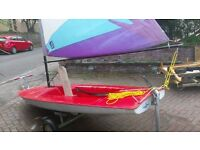Topper sailing dinghy and Trolley ideal first sailing boat for children of all ages