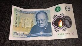 New £5 Note AA05