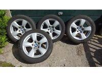 BMW Star Spoke Alloys Style 243 with Goodyear Run Flat Tyres E61/E60 5 Series