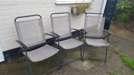Three Free Folding Garden Chairs