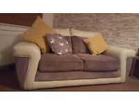 2 seater sofa for sale - half leather/material