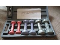 Reebok exercise dumbbell weights boxed