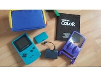 Game boy colour and accessories
