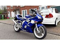 Unmolested 1999 Yamaha R6 with only 14000 miles, very clean, never seen rain, HPI clear.
