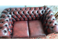 Chesterfield 2 seater leather sofa