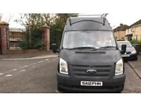 2012 long wheel base black transit van