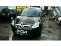 08 PLATE VAUXHALL ZAFIRA. 7 SEATER. LOVELY FAMILY CAR