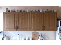 Pine effect kitchen doors