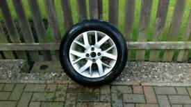 Nissan Note Alloy wheel and tyre