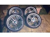 "Bmw 19"" m sport 313 alloy wheels with tyres"