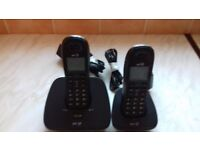 BT cordless telephone set 2 handsets immaculate