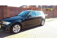 BMW 118i SE Petrol Black Leather Seats MOT June 2018