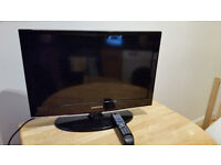 "26"" Samsung flatscreen LCD TV with stand, remote and manual"