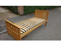 Solid Oak Guest Bed including 2 Mattresses