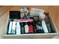 Beauty box of selected cosmetics and skin care products
