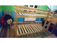 Shorty (2ft 6) pine bunkbeds with matresses