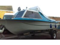 14FT CABIN CRUISER/TRAILER/OUTBOARD/FISHING BOAT/DAY BOAT/SEA/RIVER/CANAL