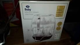 Electric baby bottle steam steriliser