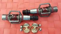 Crank Bros. Egg Beater 3 pedals (red anodized) - used 6 times