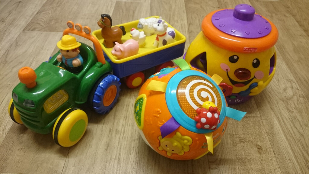 fisher price pot vtech move crawl ball kiddieland farm tractor in carnoustie angus gumtree. Black Bedroom Furniture Sets. Home Design Ideas